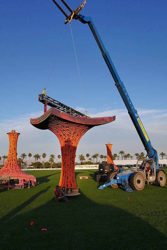 Coachella: Paper pulp Pavilion, Palm Springs, USA BallNogues [2015]