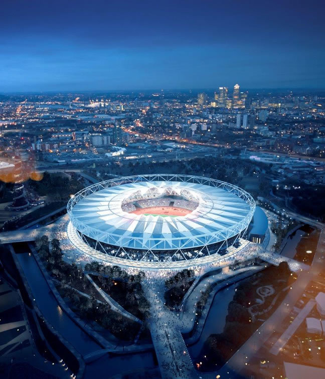 London 2012 and Sochi 2014 Main Stadium